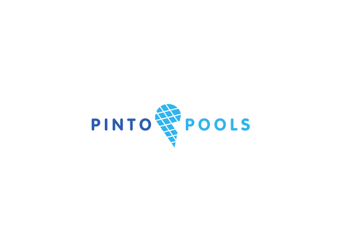 Recreation design with the title 'Pinto Pools Logo'