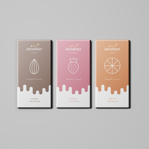 Chocolate packaging with the title 'Modern Chocolate Bar Design'