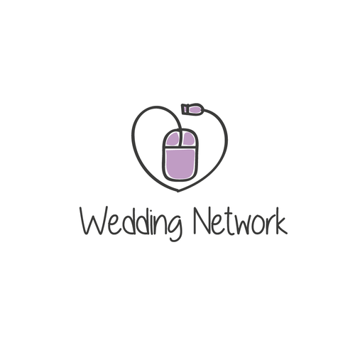 Romantic logo with the title 'The Wedding Network'