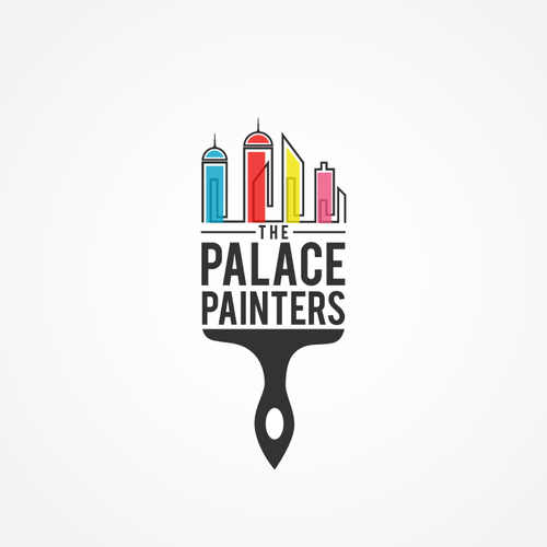 Paint design with the title 'The Palace Painters logo'