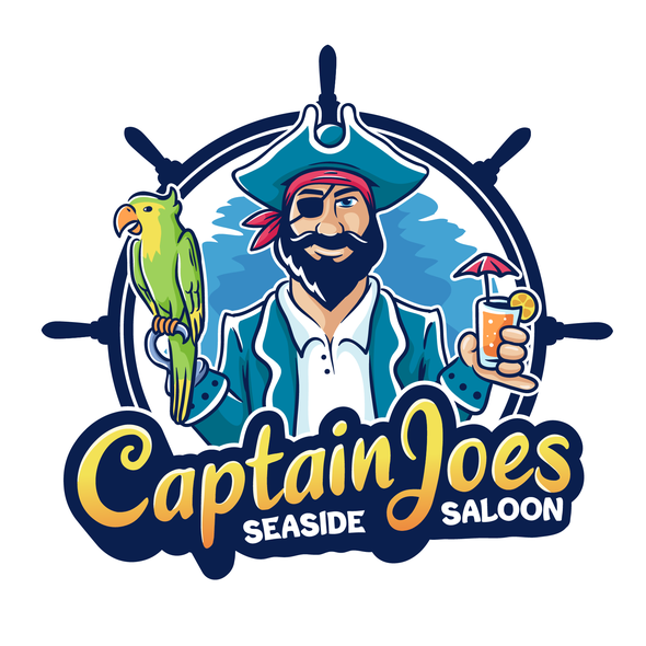 Pirate brand with the title 'Captain Joes logo'