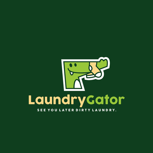 Alligator design with the title 'LaundryGator'