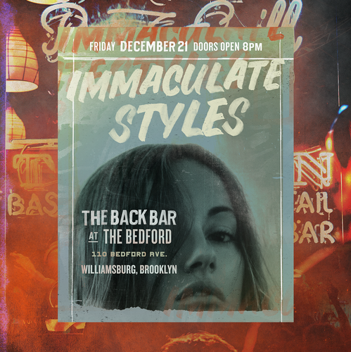 Bold design with the title 'Immaculate Styles'