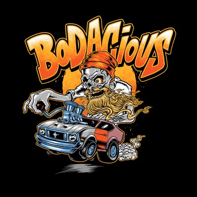 Rat Fink style illustration for Bodacius