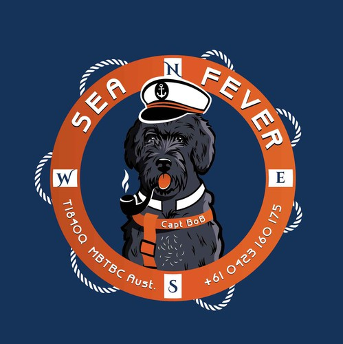 Rottweiler logo with the title 'Sea Fever Collective'
