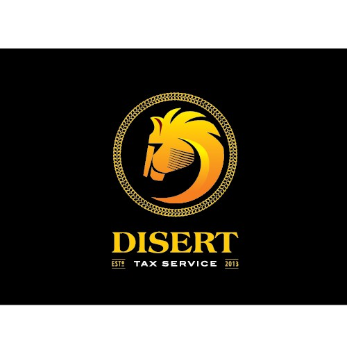Leo logo with the title 'Create the next logo for Disert Tax Service'
