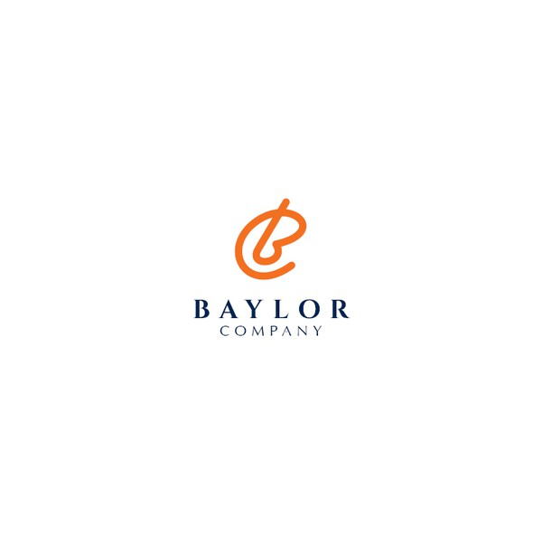 Simple modern design with the title 'Baylor Company logo'