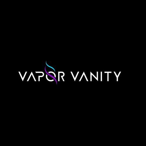 Vape logo with the title 'Vapor Vanity'