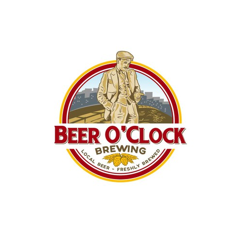 Clock logo with the title 'Beer O'Clock Brewing'
