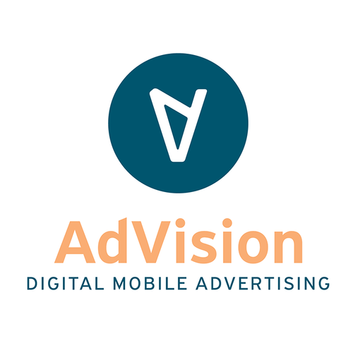 Atlanta logo with the title 'Create a capturing modern look for AdVision - Mobile Billboard Company'