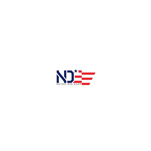 American flag logo with the title 'NDE '