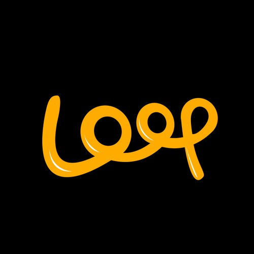 Loop design with the title 'Typography Logo for Loop'