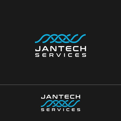 Wave logo with the title 'Jantech Services Logo'