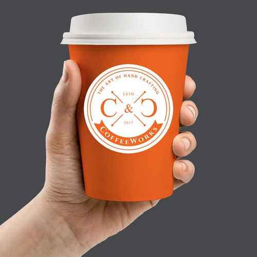 Coffee house logo with the title 'Logo for C & C Coffee'