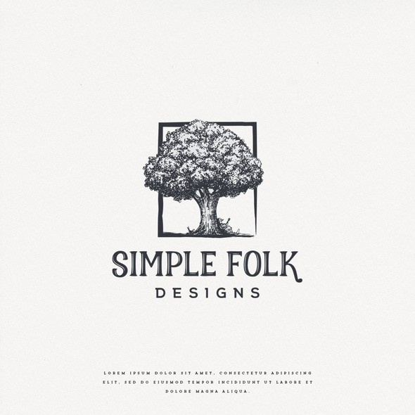 Folk logo with the title 'Simple Folk Designs'