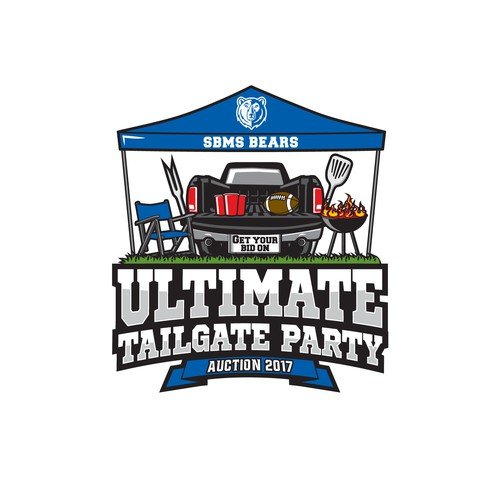Chair logo with the title 'Ultimate Tailgate Party'