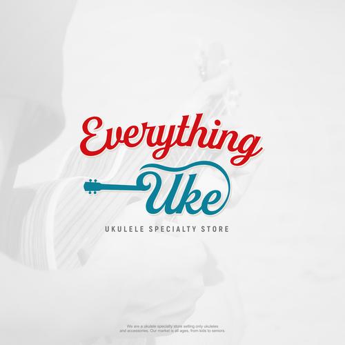 Jade logo with the title 'Ukulele store logo'
