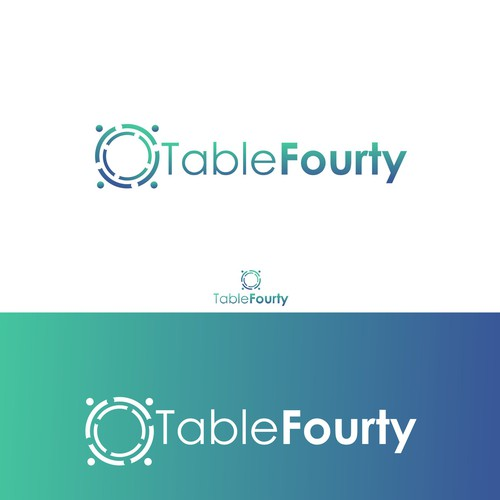 Exploration logo with the title 'Logo Design for Table Forty'