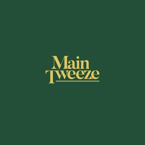 Simple font logo with the title 'Logo concept for Main Tweeze'