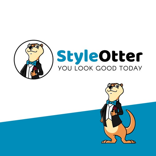 Otter design with the title 'StyleOtter is seeking playful, outgoing designers to create a new logo and identity pack!'