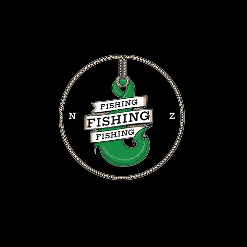 New Zealand design with the title 'Logo for fishing gear store'