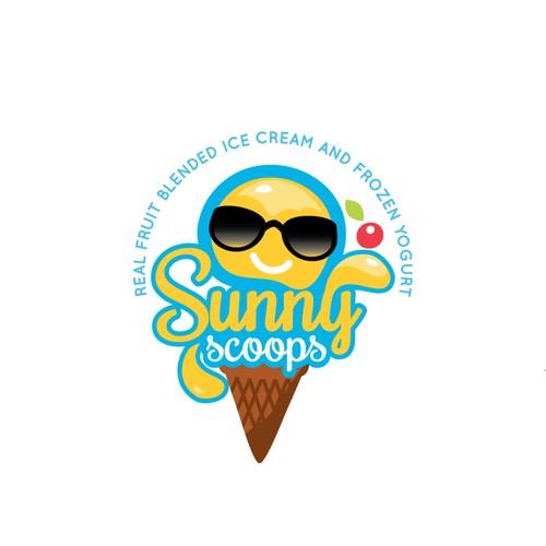 Yogurt design with the title 'Eye Catching logo for ice-cream truck'