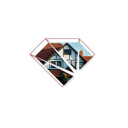 Facade logo with the title 'Logo Design for Three Diamond'
