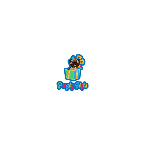 Pug design with the title 'Pugly Gifts'