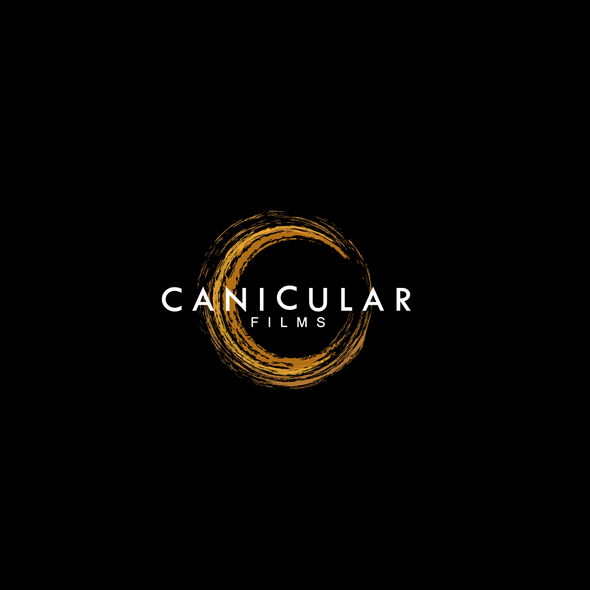 Shiny logo with the title 'Logo design proposal for Canicular Movie Company'