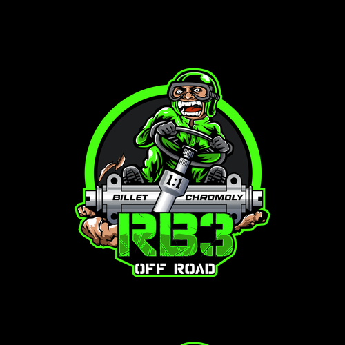 Sports logo with the title 'rb3 offroad stickers'