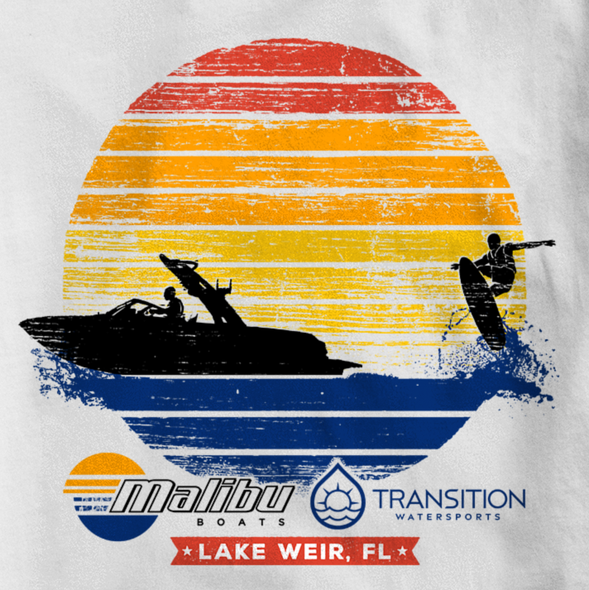 Event t-shirt with the title 'Boat Company Watersport Event'