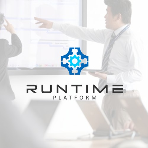 Mechanical logo with the title 'Runtime Logo'