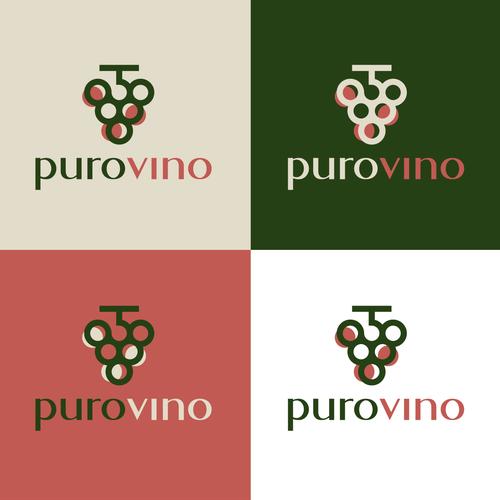 Grape logo with the title 'purovino'