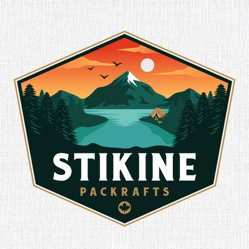 Lake logo with the title 'Stikine Packrafts'