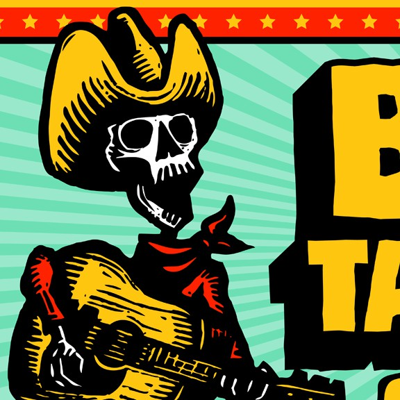 Sign illustration with the title 'Create amazing artwork for our new Taqueria sign'