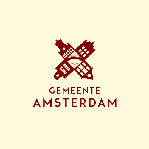 Bridge logo with the title 'Community Contest: create a new logo for the City of Amsterdam'