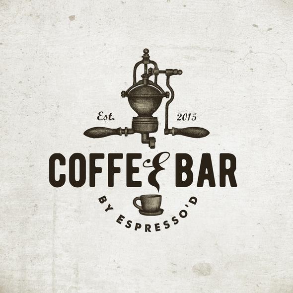 Espresso logo with the title 'Trendy Coffee Bar Logo'
