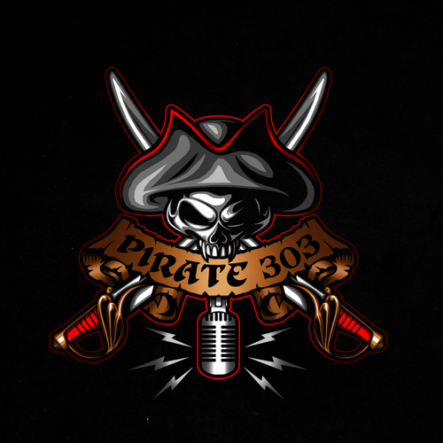 Radio design with the title 'Pirate 303'