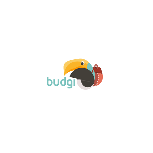 Toucan design with the title 'Logo for backpacker's travelling agency'