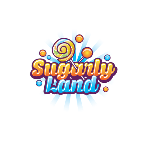 Sugar logo with the title 'Logo concept for Sugarly Land'