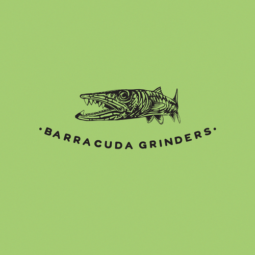 Creepy logo with the title 'Barracuda logo for grinders'