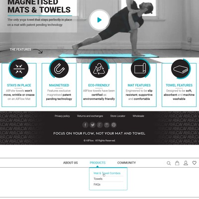 Design for a yoga products company