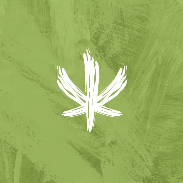 Abstract art logo with the title 'Abstract Logo Design for Cannavas, art inspired by Cannabis'