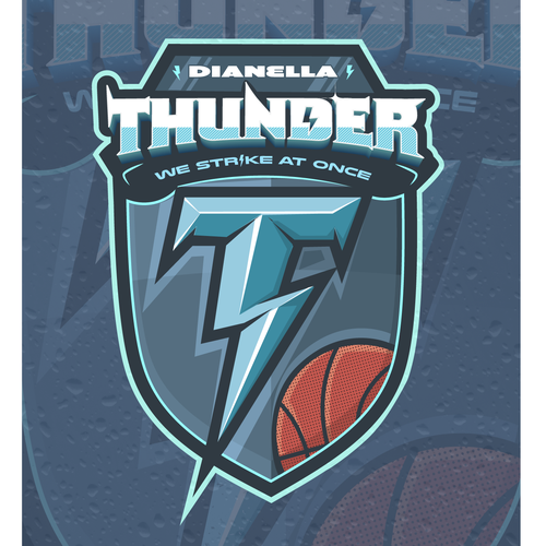 Thunder logo with the title 'Logo contest entry'