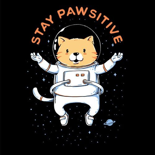 Retail t-shirt with the title 'Space Cat'