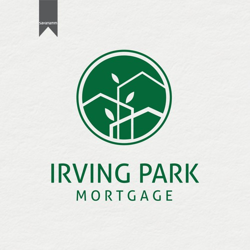 Park design with the title 'New logo and webpage for an innovative new mortgage company that works with care and diligence for clients.'