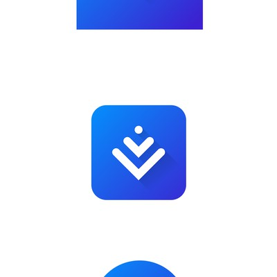 Adaptive Android icon for Downloads App