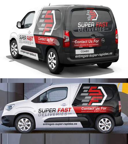 Wow design with the title 'Opel Combo super fast delivers'