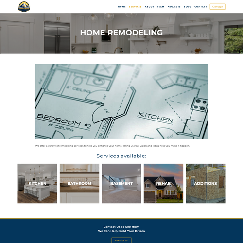 Digital website with the title 'Real Estate Design For New Business'