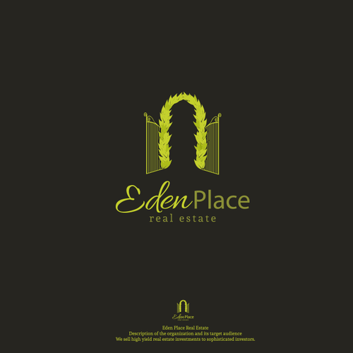 Paradise design with the title 'Eden Place'
